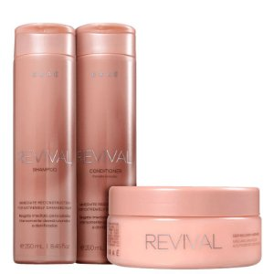 BRAÉ Revival Kit Shampoo + Condicionador 250ml + Máscara Capilar de Reconstrução 200g