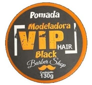VIP HAIR Pomada Modeladora Barber Shop Black 130g