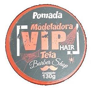 VIP HAIR Pomada Modeladora Barber Shop Efeito Teia 130g