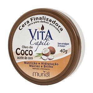 MURIEL Vita Capili Cera Finalizadora com Óleo de Coco 40g