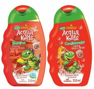 ACQUA KIDS Cabelos Lisos e Finos Kit Shampoo + Condicionador 250ml