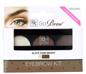 RK by Kiss Go Brow EyeBrow Rich Chocolate Brown Kit para Sobrancelhas 4g (RBKT03) (vencimento 11/2020)