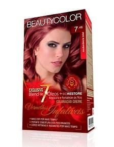 BEAUTYCOLOR Coloração Permanente Kit 7.46 Exuberância Total