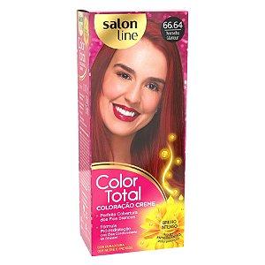 SALON LINE Color Total Coloração Permanente Kit 66.64 Vermelho Glamour