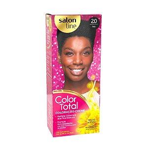 SALON LINE Color Total Coloração Permanente Kit 2.0 Preto