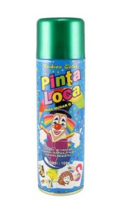 PINTA LOCA Spray para Tintura Decorativa do Cabelo Verde 150ml