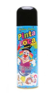 PINTA LOCA Spray para Tintura Decorativa do Cabelo Preto 150ml