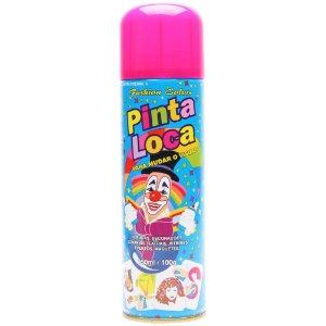 PINTA LOCA Spray para Tintura Decorativa do Cabelo Rosa Flash 150ml