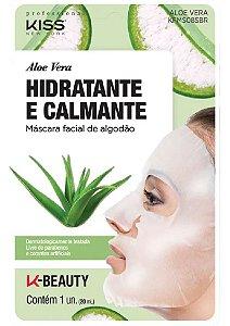 KISS NEW YORK Máscara Facial de Algodão Hidratante e Calmante Aloe Vera  20ml (KFMS08S)
