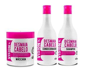 VISION Desmaia Cabelo Kit Shampoo + Condicionador + Máscara Capilar 500ml