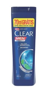 Clear Men Ice Cool Menthol Shampoo Anticaspa 400ml grátis 70ml