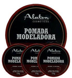 ALATON Pomada Modeladora Profissional Efeito Teia 130g kit 12un
