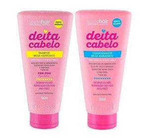 MURIEL Studio Hair Deita Cabelo Kit Shampoo + Condicionador Mega Hidratante 300ml