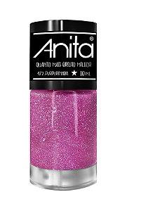 ANITA Esmalte Quanto Mais Brilho Melhor Glitter Purpurinada 10ml