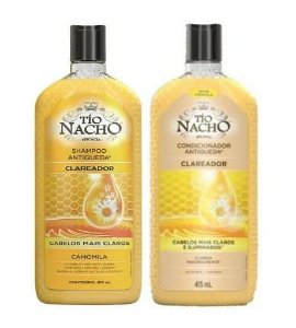 TÍO NACHO Antiqueda Clareador Shampoo + Condicionador 415ml