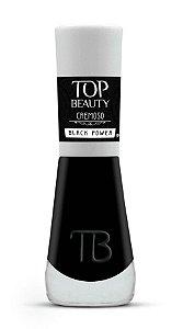 TOP BEAUTY Premium Esmalte Vegano Cremoso Black Power 9ml