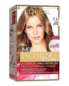 IMÉDIA Excellence Coloração Creme 7.11 Louro Cendré Natural
