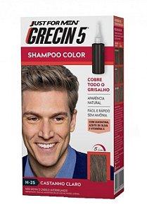 GRECIN5 Shampoo Color Castanho Claro H-25