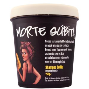 Lola Morte Súbita Shampoo Sólido Detox Esfoliante - 250g