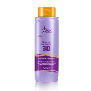 Magic Color Shampoo Matizador 3D Levemente Desamarelador - 500ml