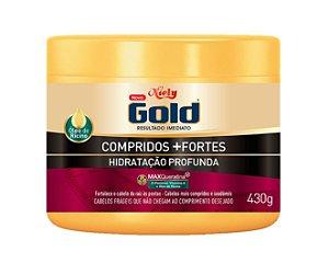 NIELY Gold Compridos + Fortes Máscara Capilar Hidratação Profunda MaxQueratina 430g