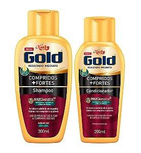 NIELY Gold Compridos + Fortes Kit Shampoo 300ml + Condicionador 200ml
