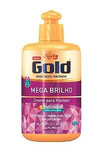 NIELY Gold Mega Brilho Creme para Pentear MaxQueratina 280g