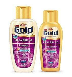 NIELY Gold Mega Brilho Kit Shampoo 300ml + Condicionador 200ml