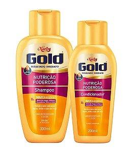 NIELY Gold Nutrição Poderosa Kit Shampoo 300ml + Condicionador 200ml