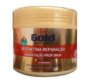 NIELY Gold Queratina Reparação Máscara Capilar Hidratação Profunda MaxQueratina 430g