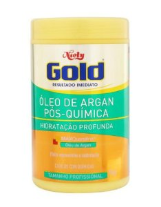 NIELY Gold Óleo de Argan Pós-química Máscara Capilar Hidratação Profunda 1Kg