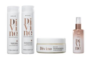 BRAÉ Divine Kit Antifrizz Lisos Divinos GRÁTIS Sérum Plume Sensation 60ml