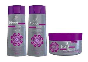 BARROMINAS Blond Balance Kit Desamarelador Shampoo + Condicionador + Máscara