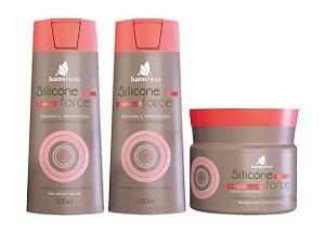 BARROMINAS Silicone Force Kit Cabelo Quebradiço Shampoo + Condicionador + Máscara