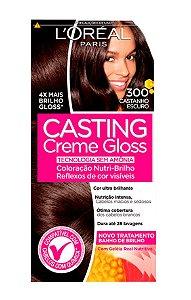 CASTING Creme Gloss Tonalizante 300 Castanho Escuro