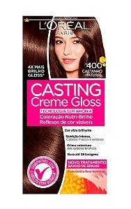 CASTING Creme Gloss Tonalizante 400 Castanho Natural