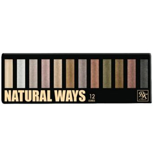Kiss New York Paleta Natural Ways 12 Cores de Sombras 01 (EPKSET0301BR)