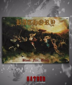 BANDEIRA - BATHORY - Blood, Fire, Death