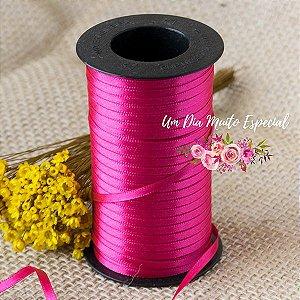 Fita de Cetim Face Dupla 4mm Rosa Pink