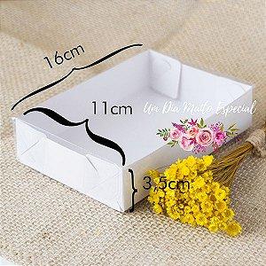 Caixa de Papel e Acetato Branca 16x11,5x3,5