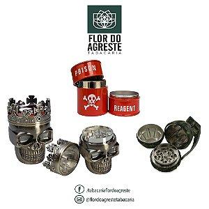 Dichavador em metal nobre (barril, granada ou rei caveira)