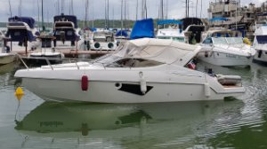 Lancha Phantom 30.3 Parelha Mercruiser 150hp Diesel
