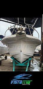 Lancha Fisherman 23.8 (Fibrafort) com Parelha Mercury 100hp Ano 2020
