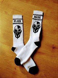 Meia Branca Black Mask Kustom