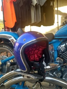 Capacete Blue Candy Flake