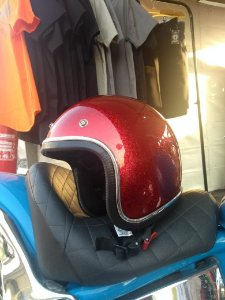 Capacete Red Candy Flake
