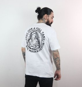 Camiseta Pray For a Full Tank - Branca