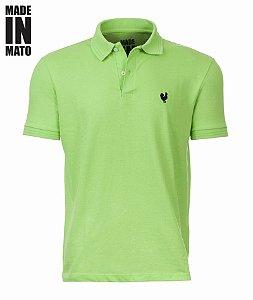 dc2b5a9f43 Camisa Pólo Made in Mato - Verde Claro