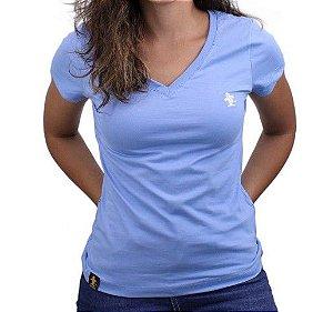 Camiseta Feminina Sacudido's Basica - Azul Bebê
