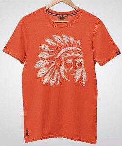 Camiseta Red Man Índio Laranja